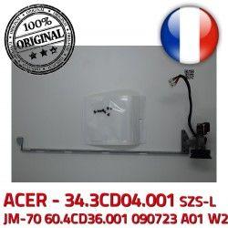 ORIGINAL Left W2 60.4CD36.001 090723 Gauche Fixations JM-70 34.3CD04.001 écran ACER Portable Montant Charnière PC Hinge SZS-L A01 LCD