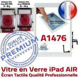 Fixation Adhésif Verre Caméra HOME AIR Blanc Ecran Vitre iPad A1476 Nappe Qualité Réparation Monté IC Oléophobe Tablette Tactile
