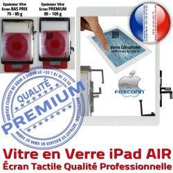 Vitre 5 Caméra Monté Fixation Blanc AIR Oléophobe Adhésif Réparation iPad Tablette Verre Qualité Bouton Tactile Nappe Ecran iPad5 HOME