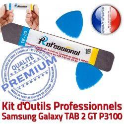 Remplacement Tactile iSesamo Vitre 2 Réparation KIT P3100 GT iLAME Compatible Qualité Ecran Galaxy Démontage Outils TAB Samsung Professionnelle