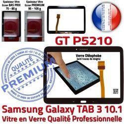 Galaxy Supérieure Prémonté en LCD PREMIUM Verre Ecran Assemblée GT-P5210 Vitre 10.1 Adhésif Noire TAB3 N Tactile Tab3 Qualité Samsung