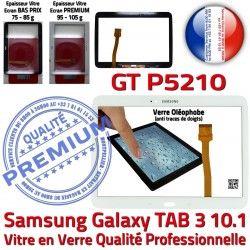 LCD Vitre Ecran Prémonté TAB3 GT-P5210 Samsung Galaxy en 10.1 PREMIUM Supérieure Tab3 B Blanche Assemblée Adhésif Verre Qualité Tactile