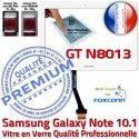 Samsung Galaxy NOTE GT-N8013 B Supérieure GT Prémonté PREMIUM Blanche Ecran en Adhésif Verre Tactile LCD Qualité 10.1 Assemblée N8013 Vitre