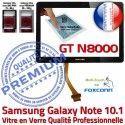 Samsung Galaxy NOTE GT-N8000 N Adhésif Vitre Noire Supérieure N8000 10.1 PREMIUM LCD Tactile Prémonté GT Ecran en Verre Assemblée Qualité