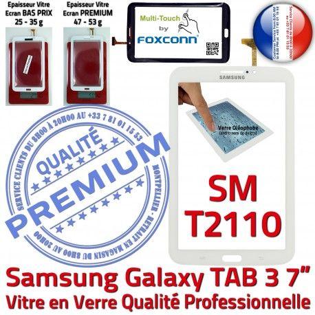 Samsung Galaxy SM-T2110 Tab3 B Ecran LCD PREMIUM Vitre Adhésif Assemblée en Supérieure Qualité Prémonté TAB3 Blanche Tactile Verre 7