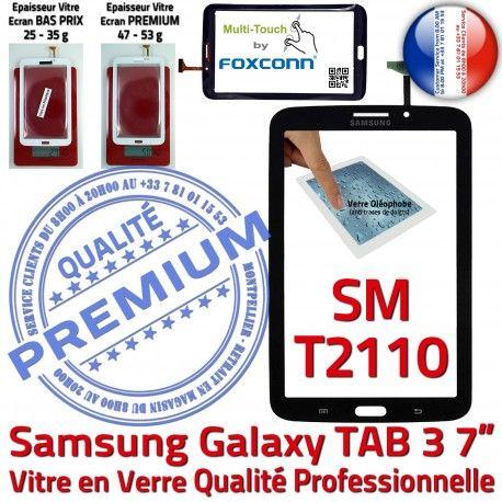 Samsung Galaxy TAB 3 SM-T2110 N Noire TAB3 Ecran Vitre Tactile Qualité Assemblée LCD 7 PREMIUM SM Verre T2110 Supérieure Prémonté Adhésif en