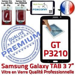TAB Vitre GT Ecran Adhésif GT-P3210 Tactile Verre Noire Qualité TAB3 Galaxy Samsung P3210 LCD en Assemblée 7 Prémonté N Supérieure 3 PREMIUM