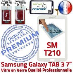 en TAB3 Galaxy Qualité Blanche Supérieure Assemblée B Verre SM-T210 Samsung Tab3 Ecran 7 Prémonté Vitre LCD PREMIUM Adhésif Tactile