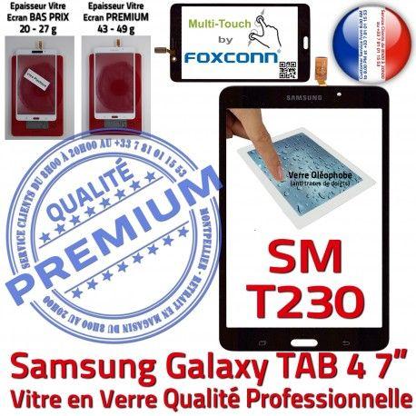 Samsung Galaxy SM-T230 TAB4 N Tactile Prémonté PREMIUM Vitre Assemblée 7 Qualité inch Adhésif LCD Verre Ecran Noire Supérieure