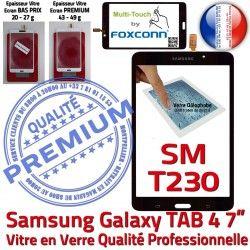 Adhésif LCD Qualité Samsung N TAB4 Galaxy Tactile Vitre Prémonté Verre SM-T230NZWAXEF Supérieure Ecran Assemblée PREMIUM Noire