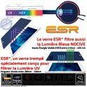 Protection Lumière UV iPad A1403 ESR Verre Protecteur Trempé Vitre Ecran Bleue Chocs Incassable Anti-Rayures Apple Filtre Film