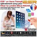 Protection Lumière UV iPad A1460 ESR Anti-Rayures Verre Ecran Apple Bleue Incassable Filtre Chocs Protecteur Film Trempé Vitre