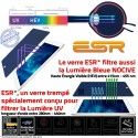 Verre Trempé Apple iPad 3 Vitre Chocs Anti-Rayures UV ESR Lumière Ecran Multi-Touch Résistant Protection Oléophobe Bleue Filtre
