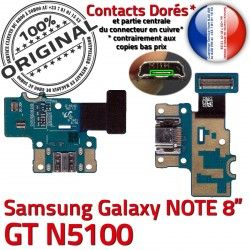 OFFICIELLE Chargeur de Contacts ORIGINAL Charge GT-N5100 GT Nappe Micro Galaxy Doré Connecteur C Samsung NOTE Qualité USB N5100 Réparation