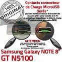 Samsung Galaxy NOTE GT-N5100 C Connecteur Doré Réparation GT OFFICIELLE ORIGINAL Nappe N5100 USB Contacts de Charge Chargeur Micro Qualité