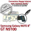 Samsung Galaxy NOTE GT-N5100 C OFFICIELLE Nappe N5100 Chargeur Doré Réparation Contacts Qualité Micro Connecteur GT de USB ORIGINAL Charge