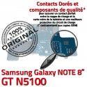 Samsung Galaxy NOTE GT-N5100 C Charge GT Micro USB Chargeur de Nappe Réparation Qualité OFFICIELLE Doré ORIGINAL N5100 Connecteur Contacts