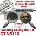 Samsung Galaxy GT-N5110 NOTE C Connecteur GT Réparation Qualité ORIGINAL OFFICIELLE Charge Nappe Chargeur de Contact N5110 Doré MicroUSB