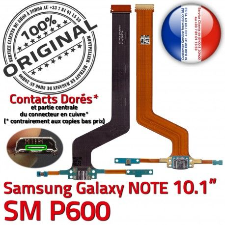 SM-P600 Micro USB NOTE Charge Galaxy Connecteur Réparation Doré MicroUSB Contact P600 Qualité Samsung Chargeur de ORIGINAL Pen SM OFFICIELLE Nappe