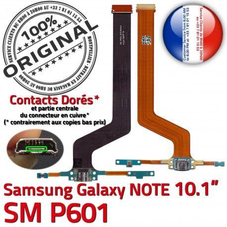 Samsung Galaxy SM-P601 NOTE C Pen Doré Réparation ORIGINAL Qualité Connecteur P601 Chargeur Nappe de MicroUSB Charge Contact OFFICIELLE SM