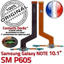 C NOTE ORIGINAL OFFICIELLE MicroUSB Connecteur Chargeur Charge Qualité Réparation Nappe Samsung P605 Galaxy Contacts Doré de SM-P605 SM