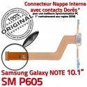 SM-P605 Micro USB NOTE Charge Qualité P605 Connecteur de MicroUSB Contact Doré OFFICIELLE SM Galaxy Réparation Samsung Chargeur Nappe Pen ORIGINAL