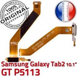 Réparation Charge P5113 Nappe Connecteur 2 USB Contacts TAB Dorés Micro OFFICIELLE MicroUSB Galaxy Samsung de Chargeur Qualité GT-P5113 TAB2 GT ORIGINAL