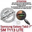 Samsung Galaxy Tab 3 T113 USB Micro Dorés 7 Chargeur Prise Dock charge Pins Connector inch TAB à Connecteur SM souder ORIGINAL de