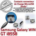 Samsung Galaxy Win GT-i8558 USB de Dock Chargeur ORIGINAL Pins Qualité Fiche à SLOT Dorés Connector souder charge Prise MicroUSB