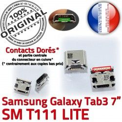 Galaxy Dorés Pins MicroUSB Samsung SLOT Qualité souder SM-T111 à charge ORIGINAL TAB3 Dock de USB Fiche Tab3 Prise Chargeur Connector