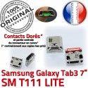 Samsung Galaxy Tab3 SM-T111 USB à Chargeur de ORIGINAL SLOT souder charge TAB3 MicroUSB Dock Dorés Qualité Connector Pins Fiche Prise