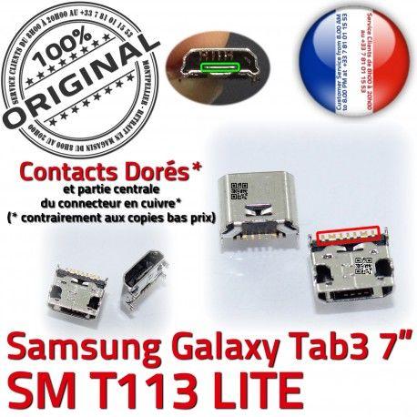 Samsung Galaxy Tab3 SM-T113 USB souder MicroUSB SLOT Connector Prise Chargeur TAB3 ORIGINAL charge Pins Dorés Dock de à Qualité Fiche