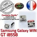 Samsung Galaxy Win GT-i8558 USB Dock Pins à Prise ORIGINAL souder MicroUSB de Dorés charge Connector Chargeur SLOT Fiche Qualité