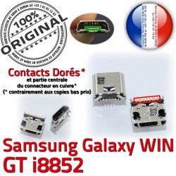 charge Prise Samsung Dorés Fiche Chargeur USB SLOT Pins de souder Connector Qualité à Win GT-i8852 MicroUSB Galaxy ORIGINAL Dock
