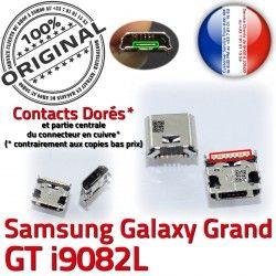 Samsung GT-i9082L Connector Pins souder USB Galaxy ORIGINAL Fiche Qualité Dorés MicroUSB charge de Dock Chargeur à Prise SLOT Grand