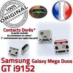 Dorés souder Prise GT Pins charge Mega Qualité Chargeur Connecteur Galaxy ORIGINAL Samsung de à i9152 Duos Micro USB Connector