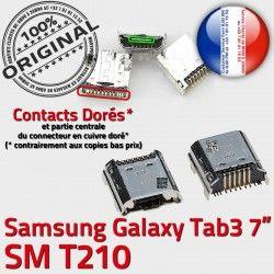USB Prise Connector charge Chargeur MicroUSB Tab3 Dorés Dock souder Qualité à de SM-T210 TAB3 ORIGINAL Samsung Pins SLOT Galaxy Fiche