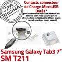 Samsung Galaxy Tab 3 T211 USB de charge Micro Connector SM ORIGINAL Dorés inch Dock Connecteur souder 7 à TAB Prise Pins Chargeur