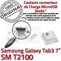 Samsung Galaxy Tab 3 T2100 USB TAB à charge Chargeur souder Dorés Micro ORIGINAL 7 inch Prise SM Dock Pins Connecteur de Connector
