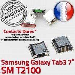 Qualité charge SM-T2100 Fiche Connector Samsung de souder MicroUSB USB Pins Prise Galaxy TAB3 Dock à SLOT Dorés ORIGINAL Tab3 Chargeur