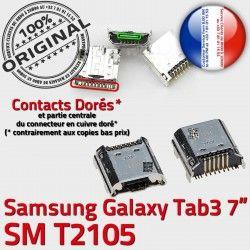 USB Tab SM souder Connecteur ORIGINAL Connector Chargeur Prise T2105 Samsung 7 Dock de TAB Micro Pins charge inch 3 Galaxy à Dorés