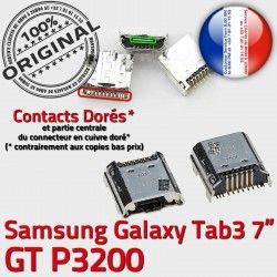 Pins Qualité charge TAB3 Tab3 Connector SLOT Galaxy de ORIGINAL à Samsung Fiche MicroUSB Chargeur Dock Prise souder Dorés GT-P3200 USB