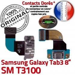 Samsung Nappe Micro SM Contacts Dorés T3100 Qualité Galaxy Réparation OFFICIELLE TAB MicroUSB Chargeur TAB3 SM-T3100 USB Charge Connecteur ORIGINAL 3 de
