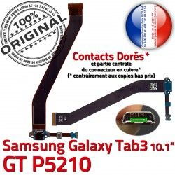 TAB Charge MicroUSB Réparation Samsung Contacts Dorés 3 Connecteur Chargeur de OFFICIELLE GT-P5210 Qualité Ch Nappe ORIGINAL Galaxy TAB3