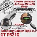 GT-P5210 Micro USB TAB3 Charge Samsung MicroUSB P5210 de Dorés Connecteur Galaxy Contacts Qualité OFFICIELLE ORIGINAL TAB Chargeur GT Réparation 3 Nappe