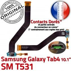 Ch Galaxy TAB Nappe MicroUSB Connecteur Contacts TAB4 Dorés Charge 4 Qualité SM-T531 OFFICIELLE Chargeur Samsung ORIGINAL Réparation de