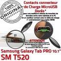 Samsung Galaxy SM-T520 TAB PRO C MicroUSB SM Contact Charge Connecteur T520 Nappe Chargeur Qualité Doré ORIGINAL OFFICIELLE Réparation de
