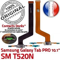 Connecteur MicroUSB Charge Nappe PRO Réparation SM SM-T520NC Chargeur Contact OFFICIELLE Samsung TAB T520N ORIGINAL Qualité Doré de Galaxy