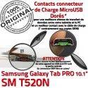 Samsung Galaxy TAB PRO SM-T520NC MicroUSB Chargeur Réparation SM de ORIGINAL Connecteur OFFICIELLE Doré Qualité Nappe Contact Charge T520N