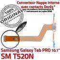 Samsung Galaxy TAB PRO SM-T520NC T520N Charge Contact Nappe Chargeur OFFICIELLE Doré ORIGINAL Qualité de Réparation Connecteur SM MicroUSB